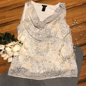 Lined tank top blouse